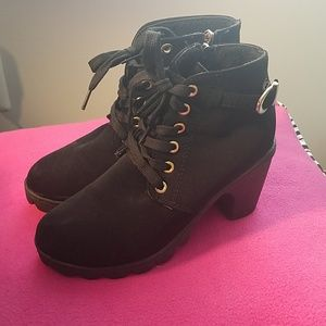 Suede Black Booties!